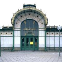 ref: PMa_A_011_Wien; Das heute Otto-Wagner-Pavillon genannte Aufnahmsgebäude der ehemaligen Stadtbahnstation