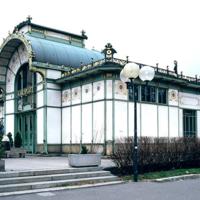 ref: PMa_A_010_Wien; Das heute Otto-Wagner-Pavillon genannte Aufnahmsgebäude der ehemaligen Stadtbahnstation
